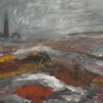 Myrskypäivä, 140x 100 cm, 2008<br>A stormy day