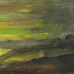 Keltainen laguuni, 40x 80 cm<br>A yellow lagoon