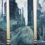 Kaupunkisarja 120x 60/ 64/64, öljy 1995<br /> City series, oil on canvas