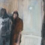 Purjehdus- sarja a 22x27 cm, akryyli kankaalle, 1999<br /> Seiling- series, acrylic on canvas