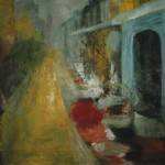 Mapusan markkinoilla, 120 x 80 cm, öljy kankaalle, 2001<br />     at the marketplace in Mapusa, oil on canvas