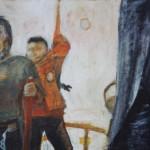 Kesä 1980, 65x 41 cm, akryyli, 1999<br /> Summer 1980, acrylic
