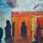 Torilla II, öljy kankaalle, 2002