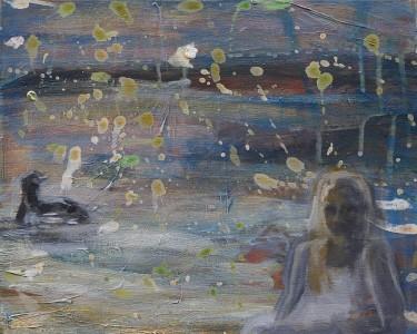 Niin on mieli minullakin, autuaallinen ajatus, kuni valo vaappuvainen, vene vienoilla vesillä.