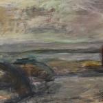 Meren äärellä, 140x 100 cm, akryyli kankaalle, <br />2006 By the sea, acrylic